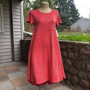 LuLaRoe Carly High-Low Dress Chevron